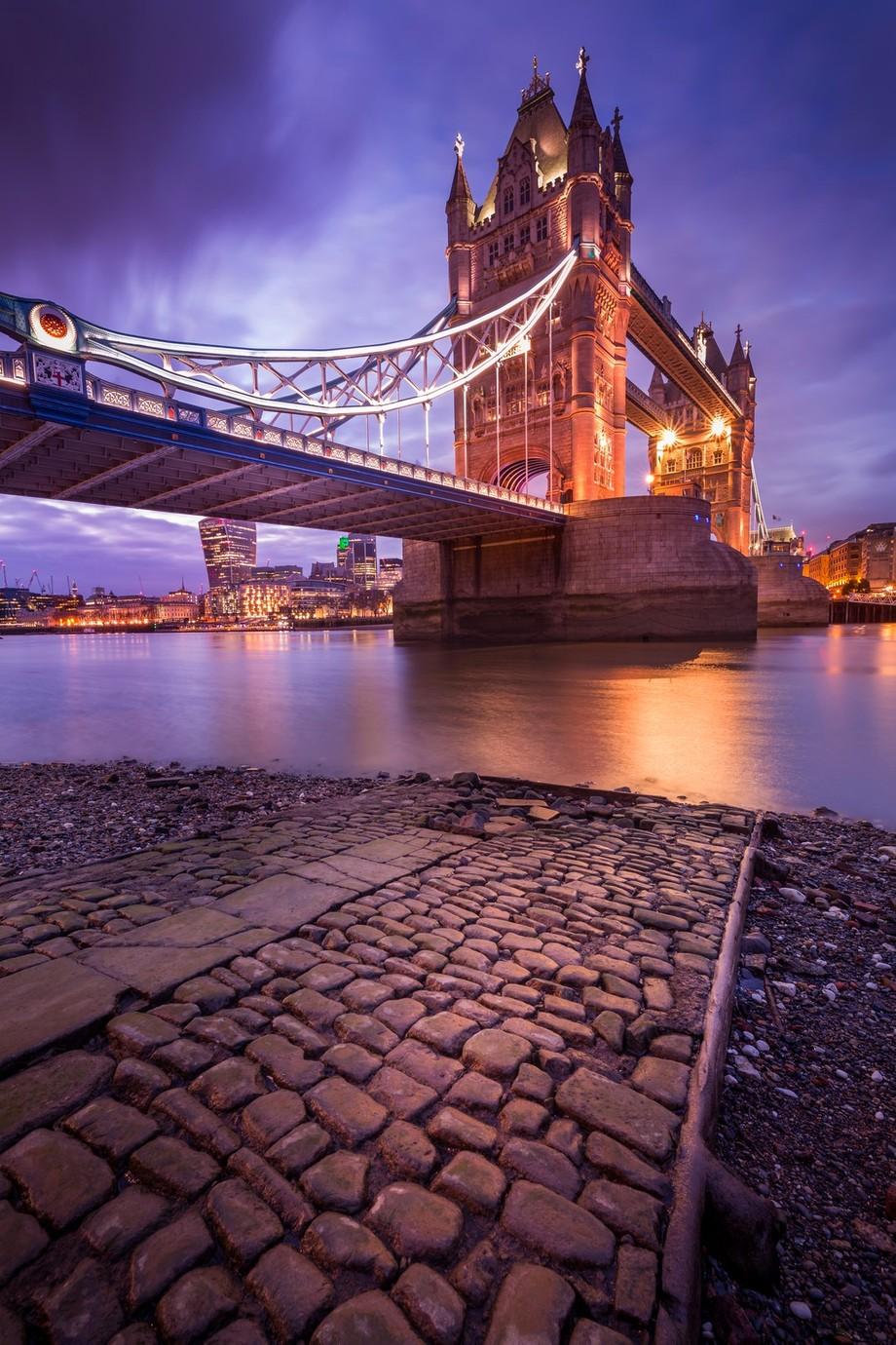 London Tower Bridge Winter Sunset by Merakiphotographer