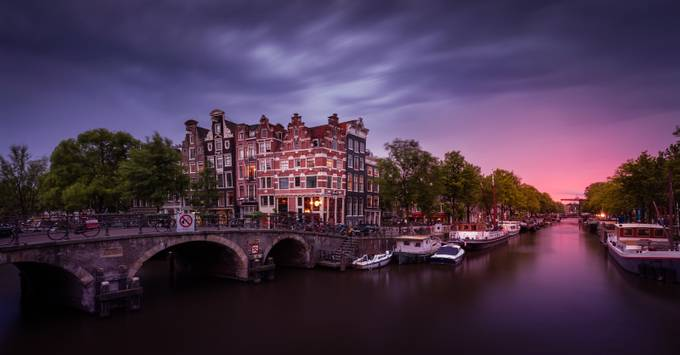 Amsterdam Summer Sunset by Merakiphotographer