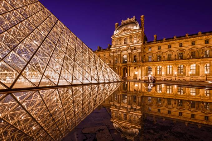 Paris Louvre Museum Reflections by Merakiphotographer - Iconic Places and Things Photo Contest