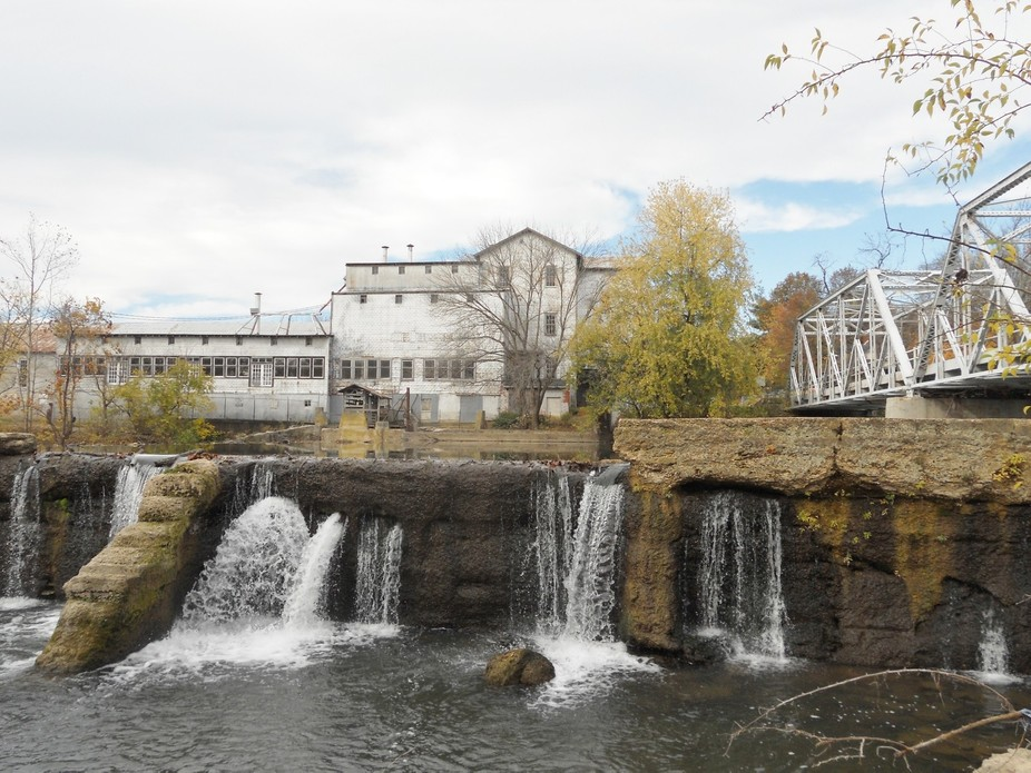 The old Purina mill and mill Dam in Ozark, Mo. Taken with a Nikon S 3000, Oct. 2015.  Taken free ...