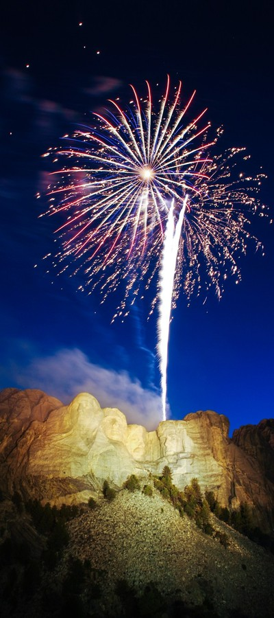 Mount Rushmore Monument Independence Day Celebration Fireworks
