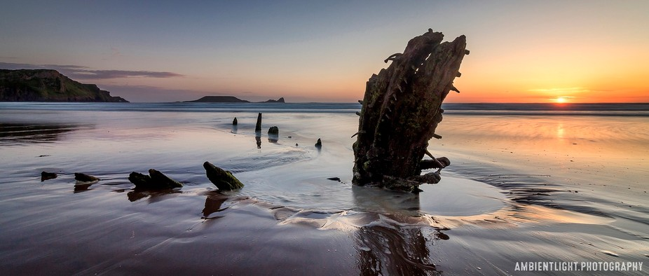 Wreck of The Helvetia, Rhossili Bay [080816]