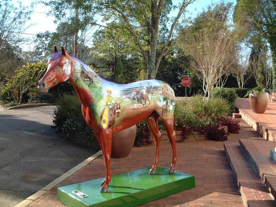 Horse statue in Aiken, SC