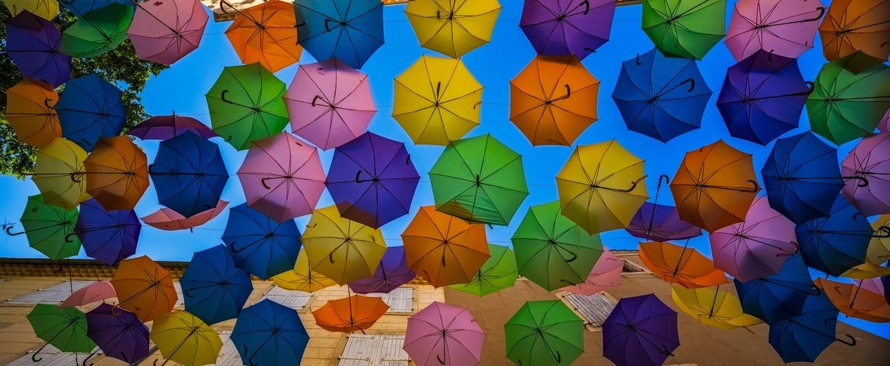 Umbrellas Above