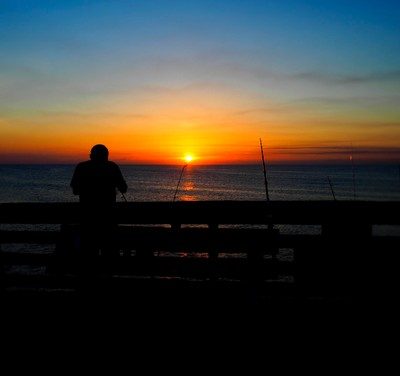 Sunrise Pierside Fishing