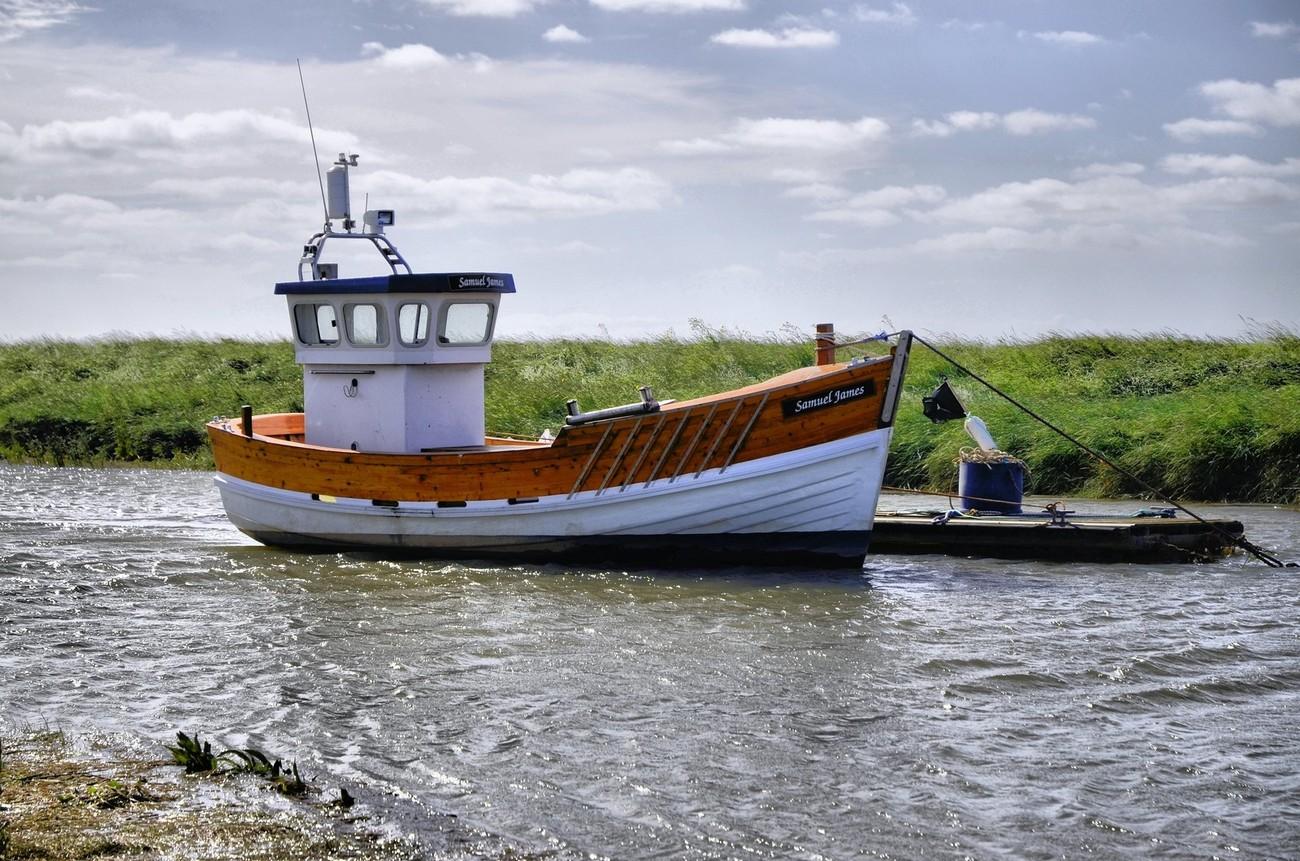 boat taken at saltfleet haven lincolnshire uk