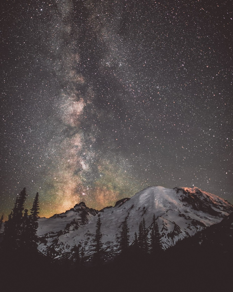 Mt. Rainier  by tomhill_photography - Capture The Milky Way Photo Contest