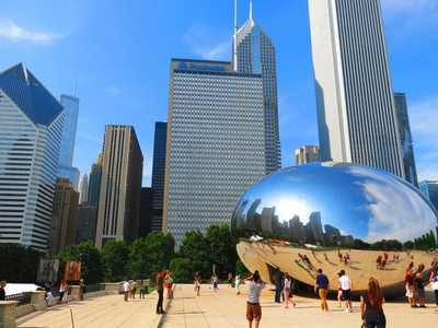 Cloud Gate or better known as The Bean, Chicago Illinois.
