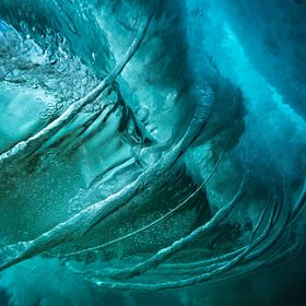 Vortex creation form underneath the waves