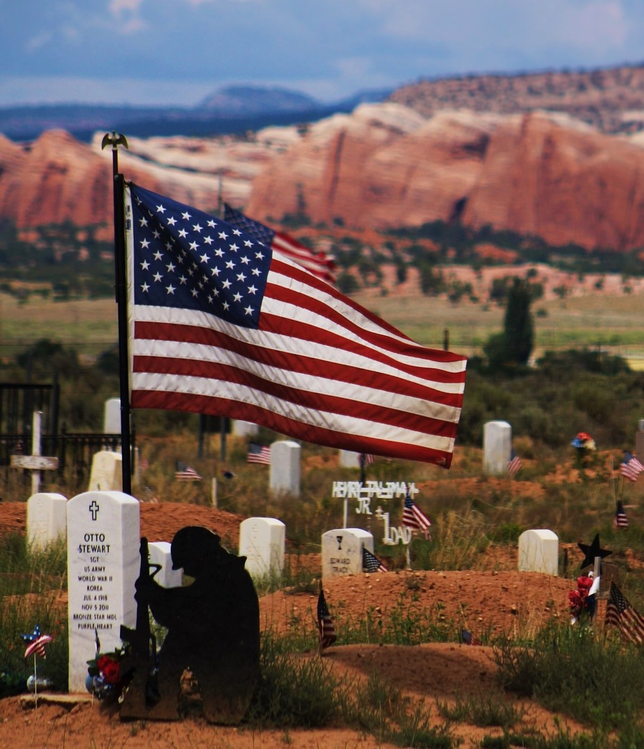 Navajo Veteran Cemetery by Forrest_Imagery - Flags and Banners Photo Contest