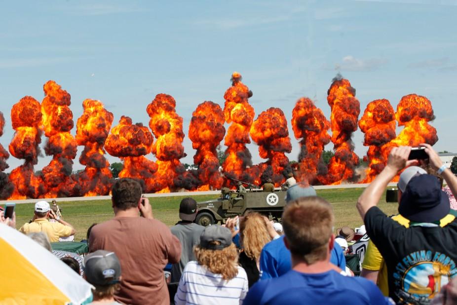 Bombing Run-Simulated