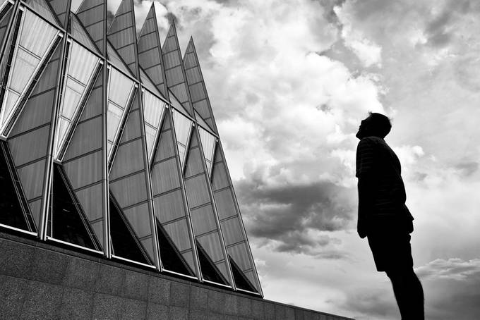 Alumn  by Athena_B - Structures in Black and White Photo Contest