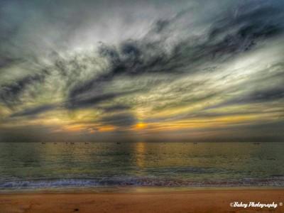 Sunrise at the seaside