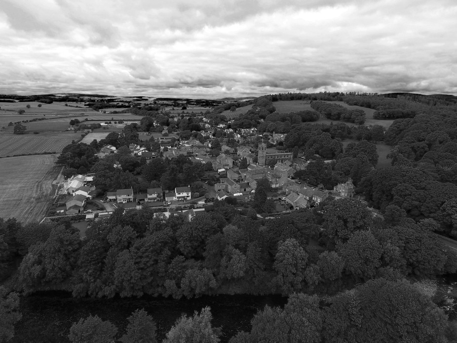 The beautiful village of Hornby near lancaster