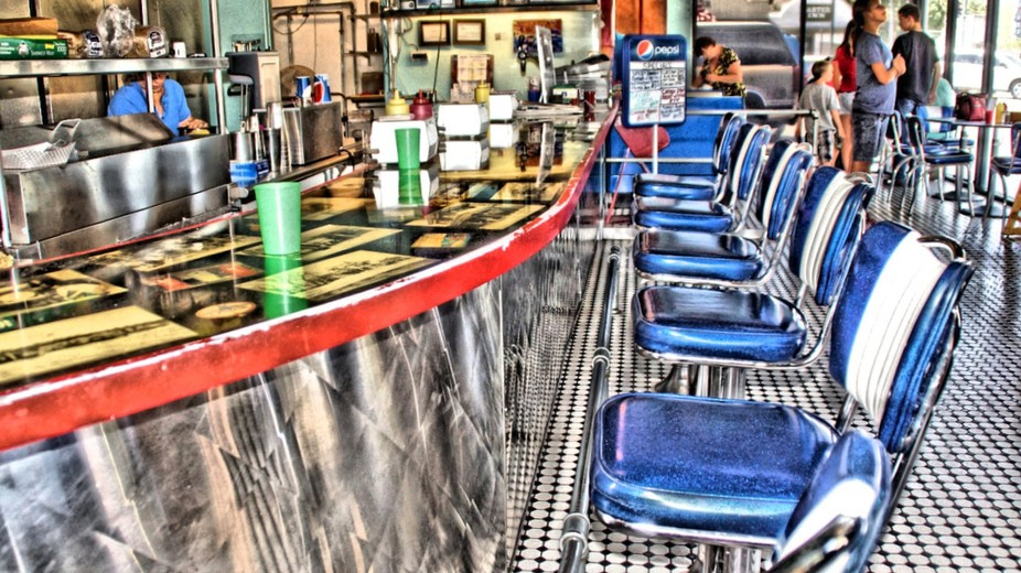 There is a hamburger place that has this kind of  50's look to it. Food is good  as well.