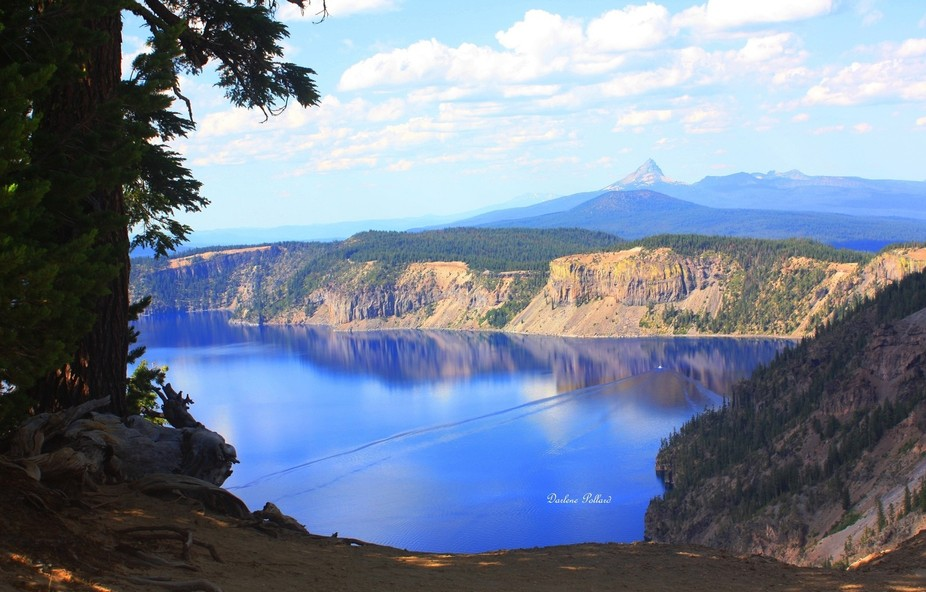 Crater Lake in Oregon is so peaceful.   With limited access to this lake, I managed to get a pict...