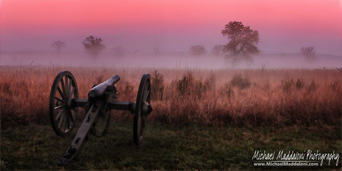 Ghosts Charging Through The Fog at Gettysburg by MichaelMaddaloni - Layered Compositions Photo Contest