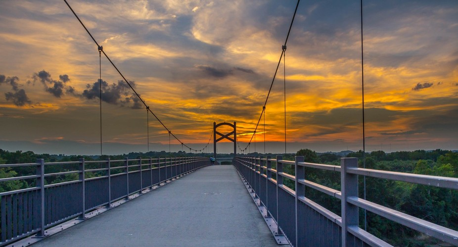 I read that this pedestrian bridge was one of the best places to capture a Nashville sunset...I w...