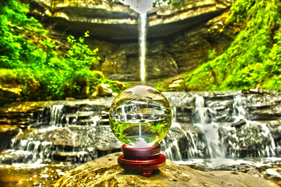 This is definitely one of my favorite shots, I love how the waterfall falls right into the crystal ball.