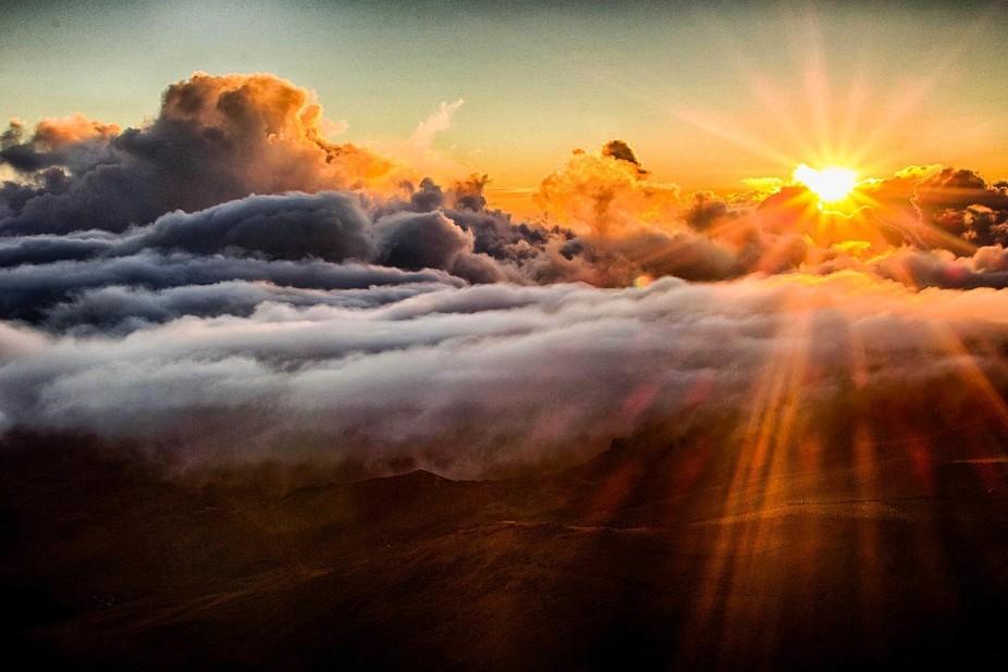 Sunrise from the summit of Haleakala.
