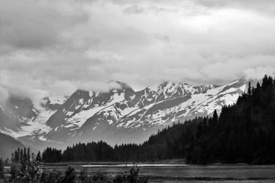 An Alaskan view.. in b&w