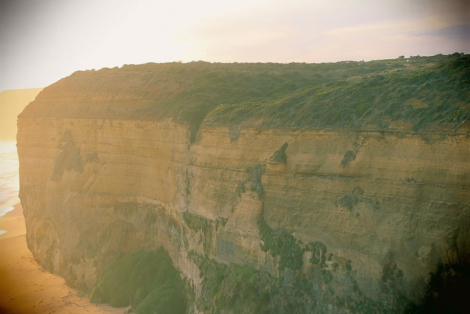 A nice sunset at the 12 apostles in Melbourne
