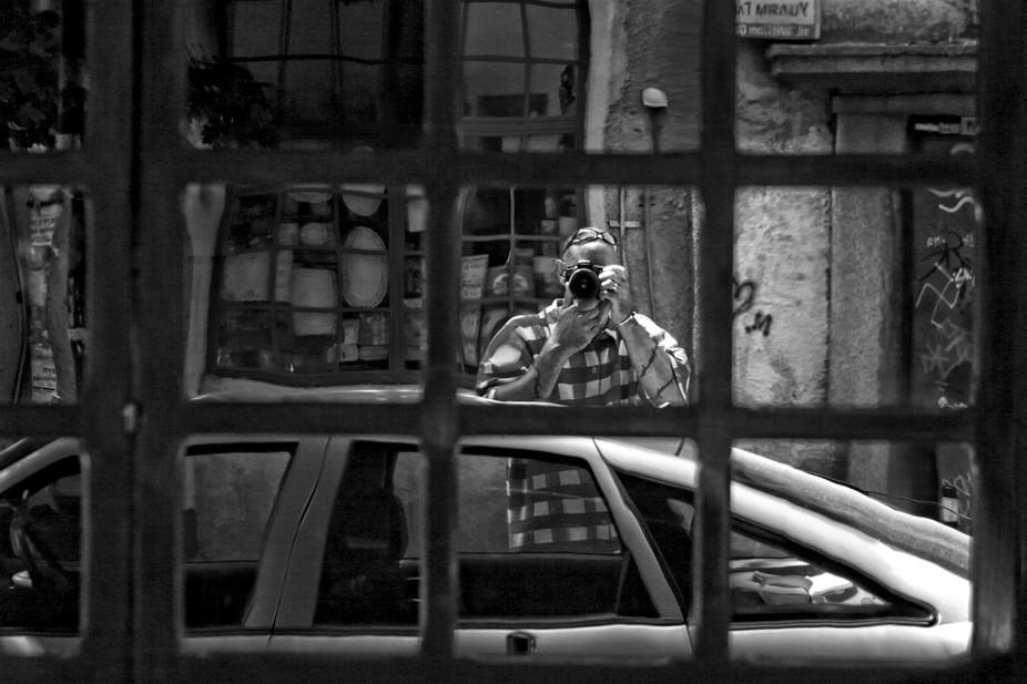 ...reflection in window across the street !