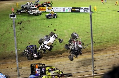 Crash at Auckland Raceway