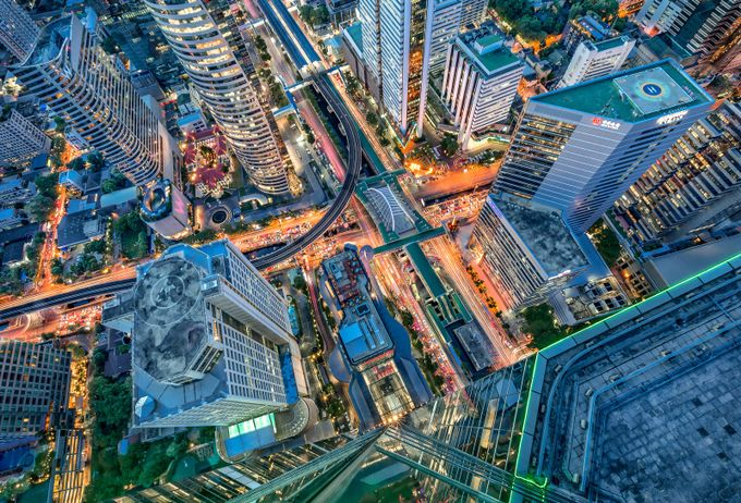 Chongnonsi Intersection by marcusburtenshaw - Rooftops Photo Contest 2018