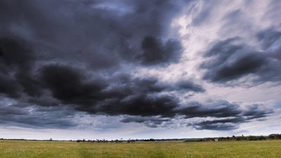Stormy clouds in Awanui (New Zealand)