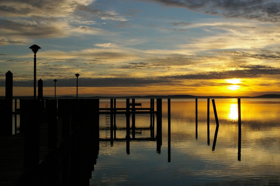 This is an early morning sunrise shot on the Susquehanna River where it meets the Chesapeake Bay.