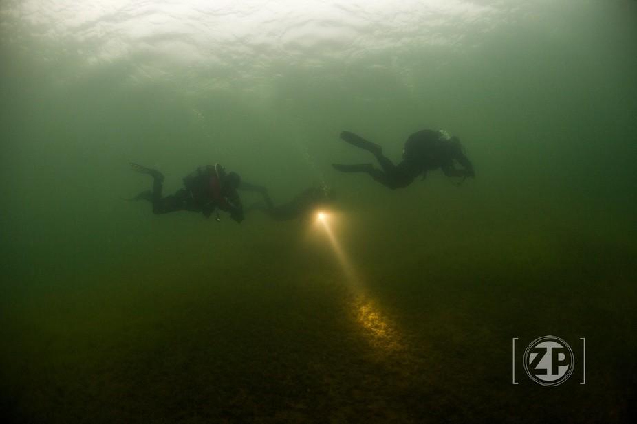 Scubadiving in The Netherlands, Bronsbergen, Zutphen.