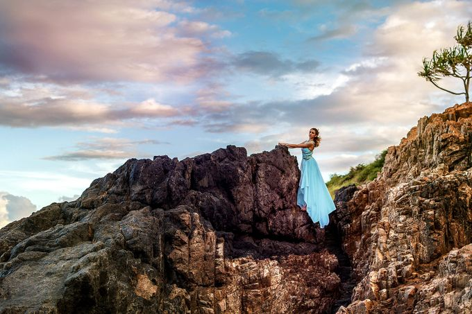 Clifftop blue by shannonkirk - Isolated Photo Contest