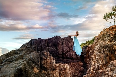 Clifftop blue