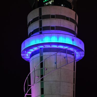 Christchurch control tower  or  a very large light sabre