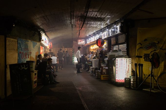 Under the tracks in Yurakucho by briankemper