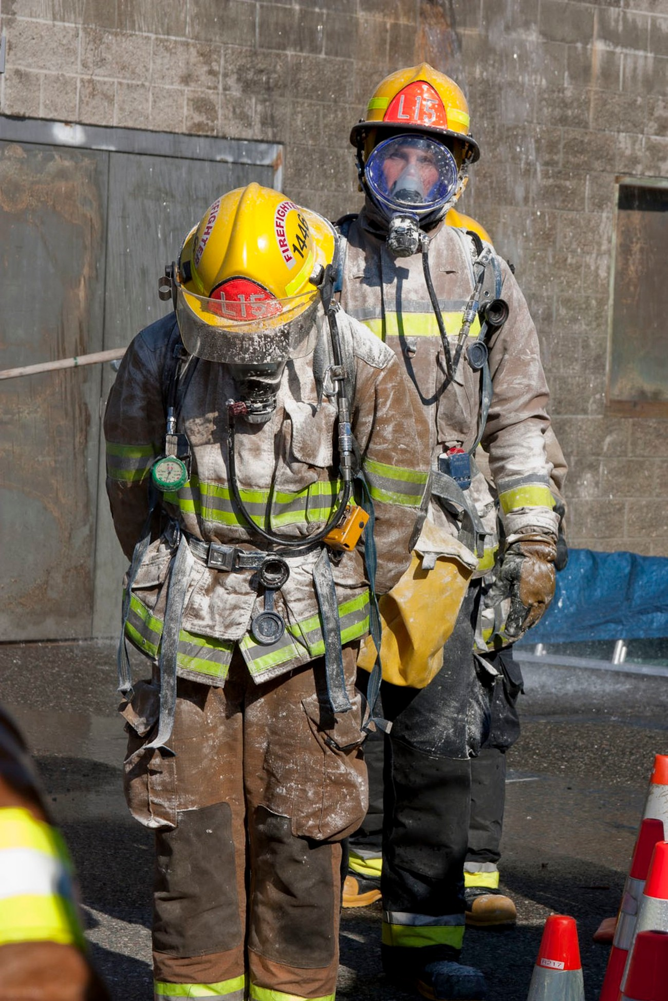 Decontamination training at Skagit County, WA fire academy