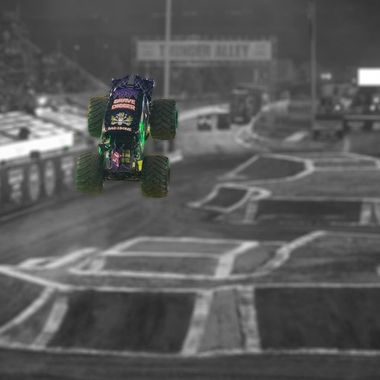 20160319 Monster Jam day 2 044 BW