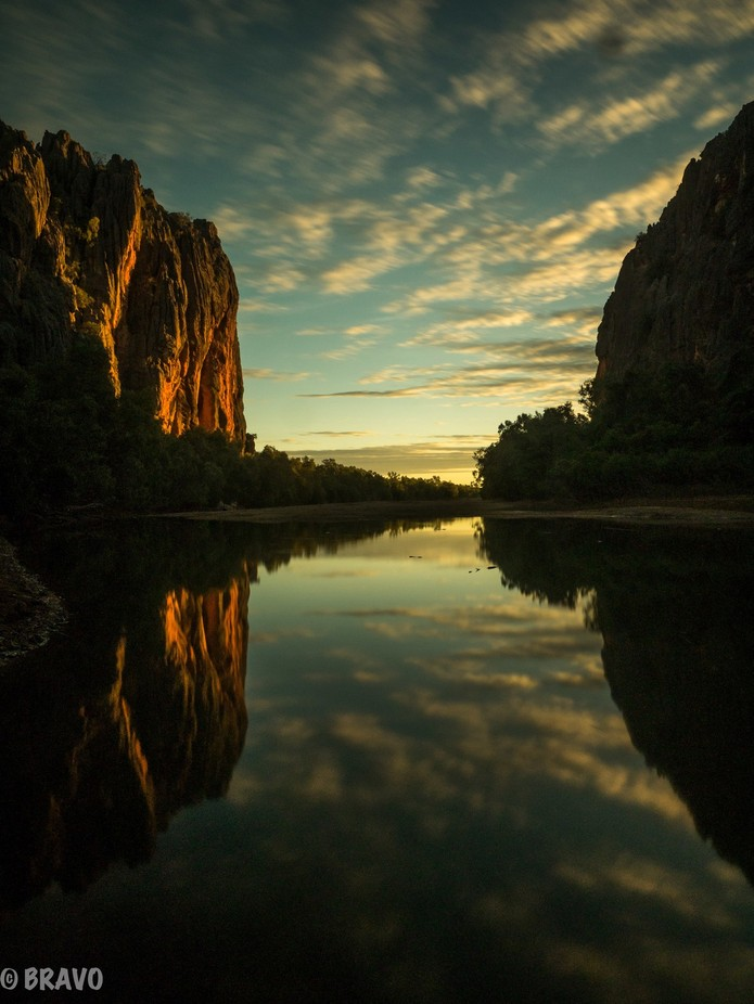 Windjana Gorge sunset 1 by AdamK - Spectacular Cliffs Photo Contest