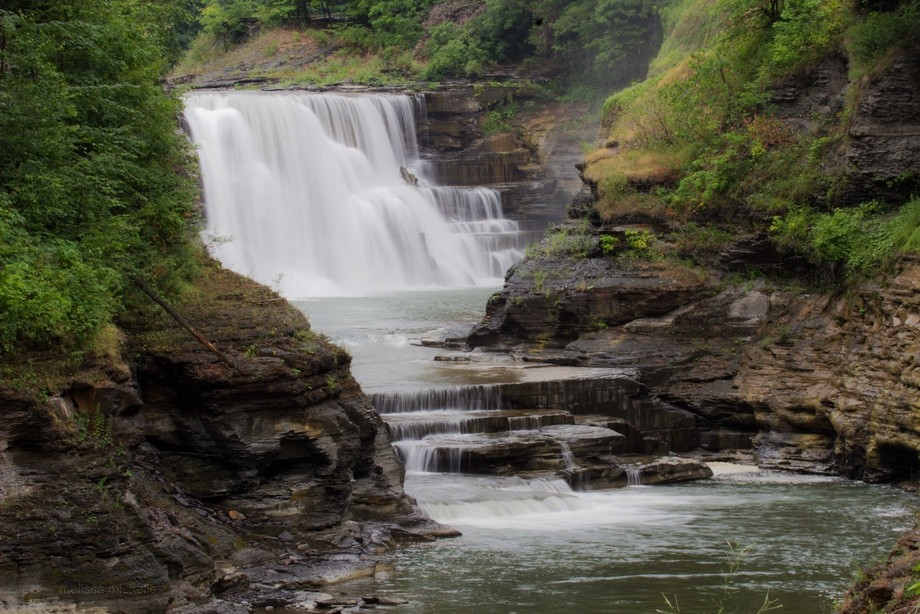 A close up of the Lower Falls at Letchworth State Park, NY