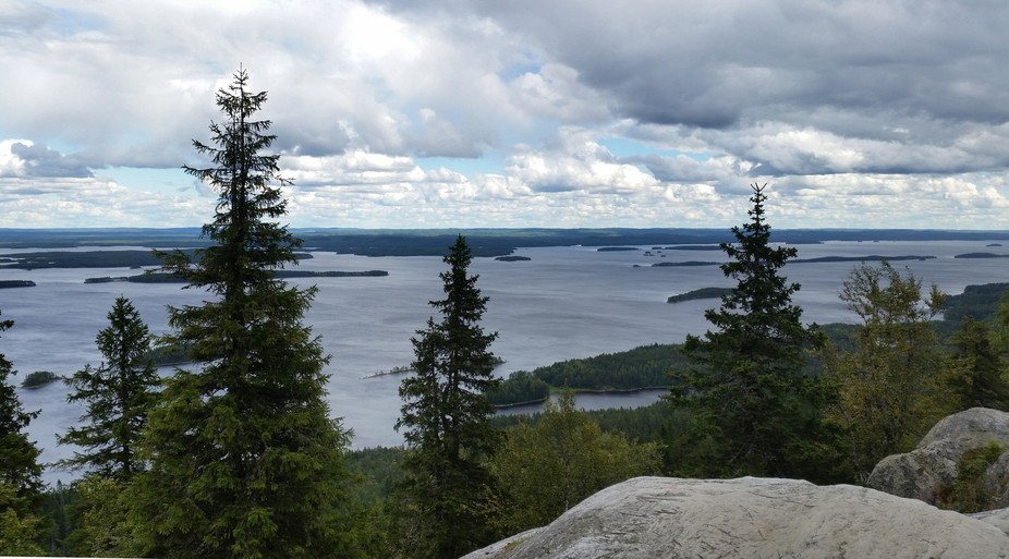 This view from the summit at Koli National Park, overlooking Lake Peilinen in Finland, is said to...
