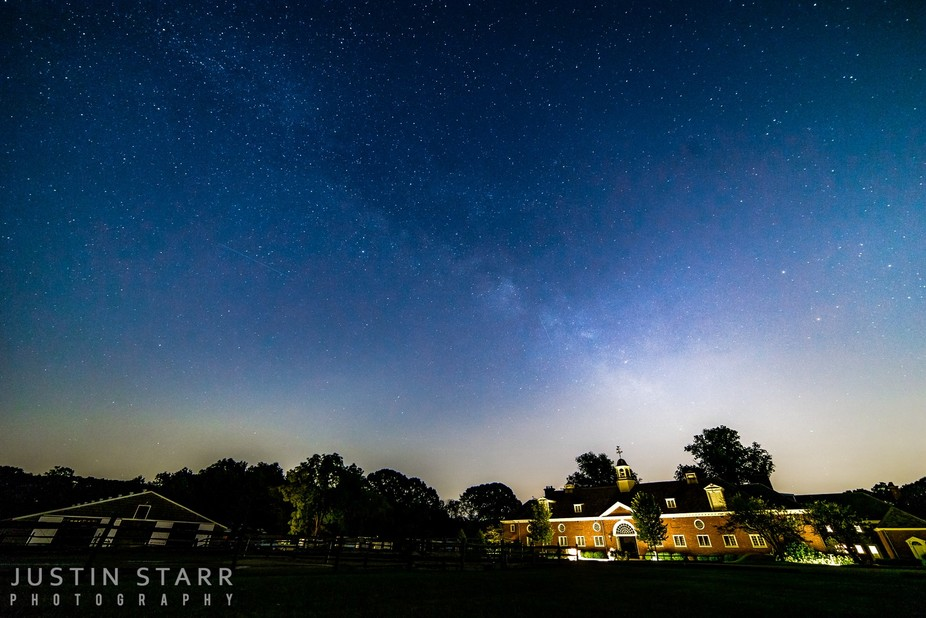 The Milky Way as viewed from Caumsett State Park, which is on the north shore of Long Island. A t...
