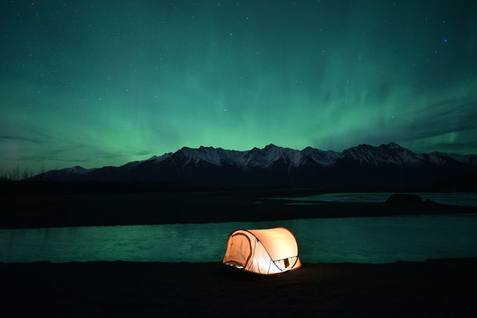 Camping under the aurora by DJMay - Outdoor Camping Photo Contest