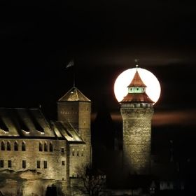 Nuremberg Castle and Fullmoon