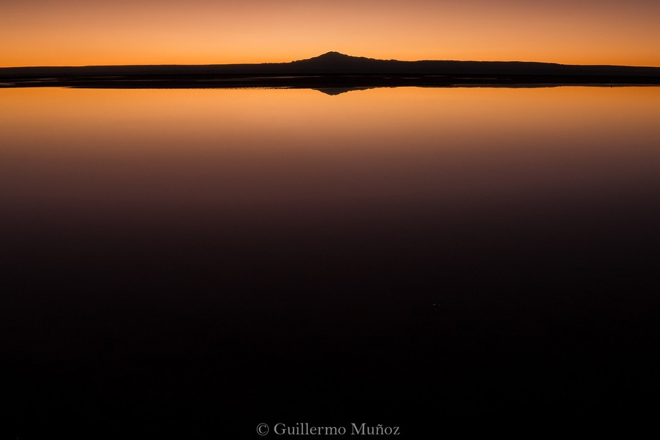 A colourful sunset in chilean desert