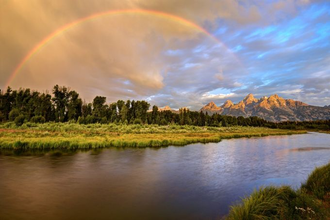 Stormy Sunrise at the Snake River and the Grand Tetons by Sierralara - Rainbows Overhead Photo Contest