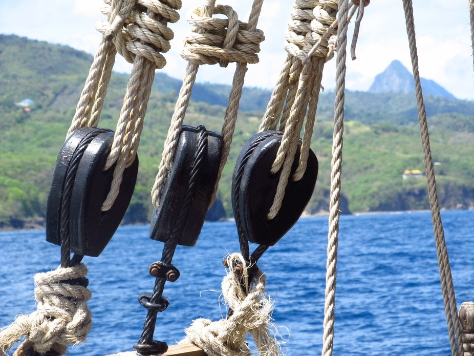 Sailing to the Pitons