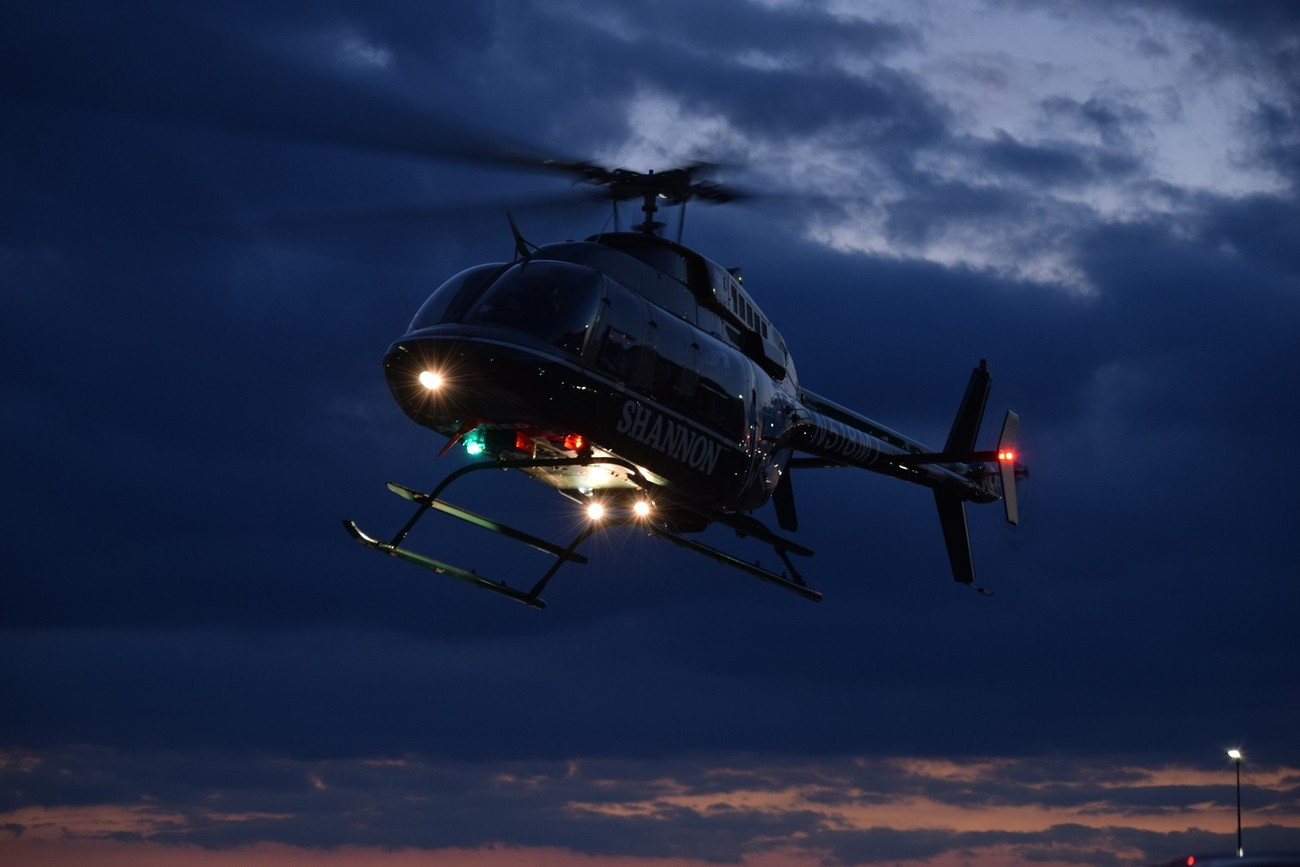 Bell 407 - Flying into Lubbock UMC