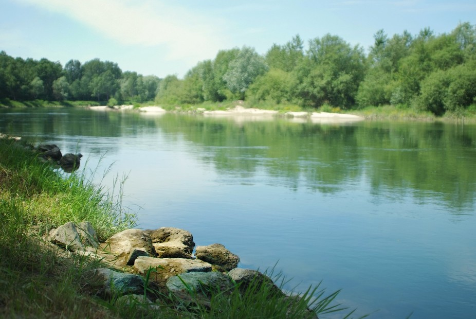 I took this photo on a river called Drava in Croatia.