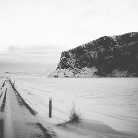 In the dead of winter in iceland - prepare for icy roads and white outs
